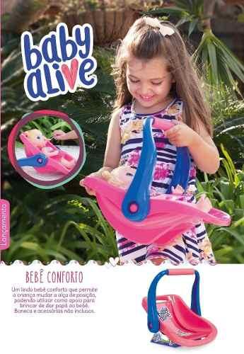 Kit Baby Alive Carrinho De Boneca + Bebe Conforto + Bercinho