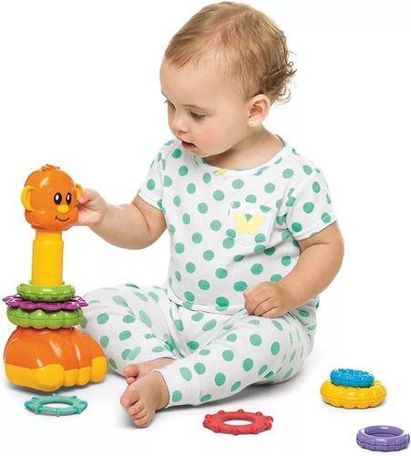 Brinquedo Infantil Zoo Argolas Para Montar Didático - Tateti full