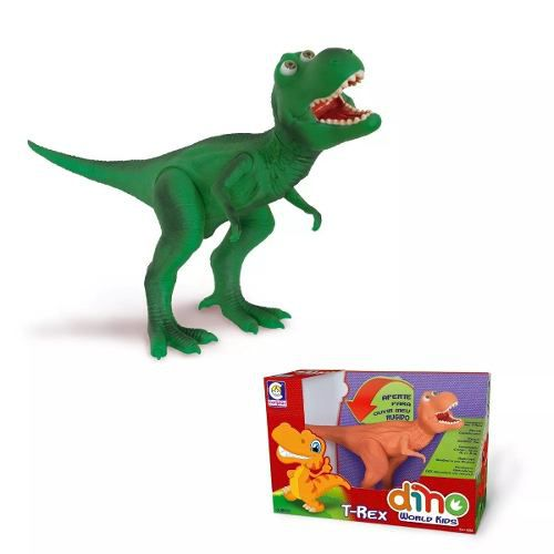 - Dinossauro Dino World Kids T-rex - Cotiplás 2223