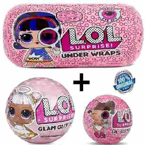Lol Kit Glam Gliter 2018+ Lol Confetti Promoção Original