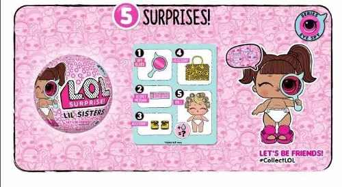 Lol Lil Sister Serie 4 Boneca Surprise Eye Spy