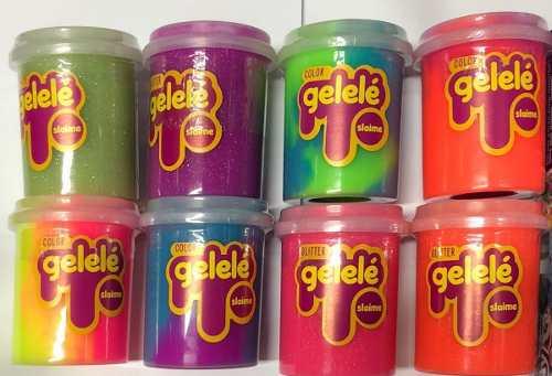 Gelelé Slime -kit Com 5 - Variados, Com E Sem Glitter