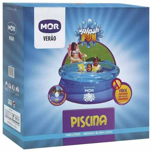 Piscina Redonda 1400 Litros Inflavel Splash Fun Mor