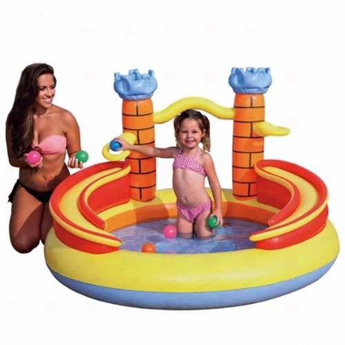 Piscina Inflável Playground Banheira Castelo 170 Litros Mor