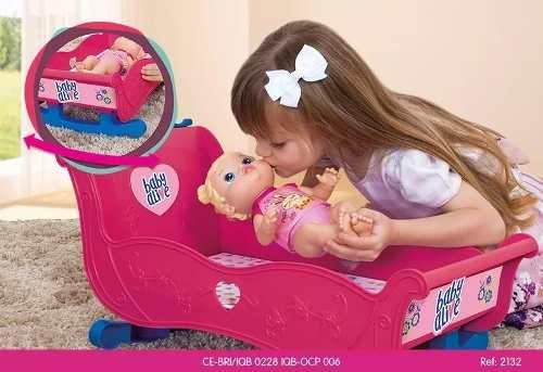 Bercinho Berço Para Bonecas Baby Alive Infantil Cotiplas