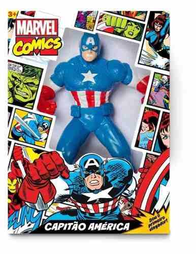 Boneco Capitão América Gigante Marvel Mimo 45 Cm