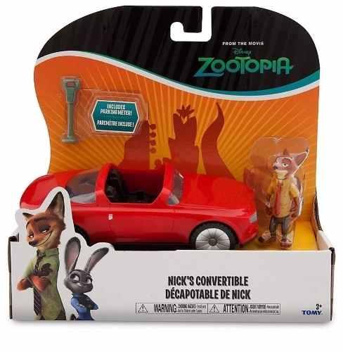 Carro + Figura Nick Wilde Zootopia Disney Tomy