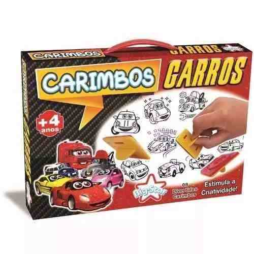 Carimbos Carros Criança Escola Brinquedo Menino Boneco