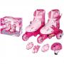Patins Infantil Tri-Line Ajustável do 30-33 Rosa - Fênix