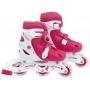 Patins Roller Infantil Rosa Regulagem Tamanho 34 Ao 37 - Mor
