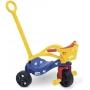 Triciclo Peixinho Empurrador  Proteção E Cestinha - Xalingo