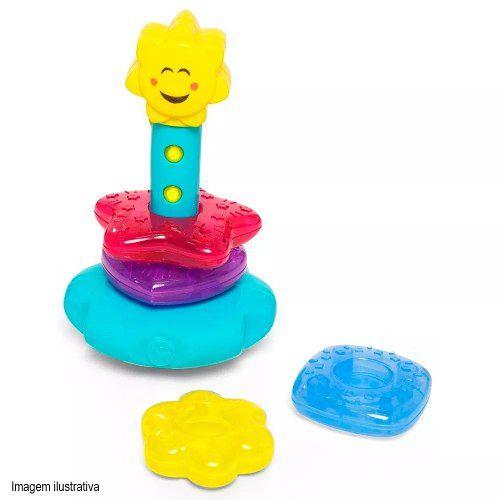 Brinquedo Didático Para Bebê Torre Lumina Calesita 881