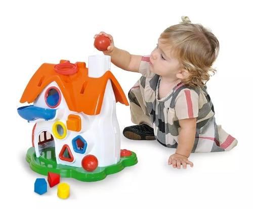Brinquedo Didativo Casinha De Atividades Divertida Play Time Cotiplas 1998