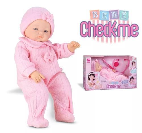 Boneca Bebê Check-me 5820 - Roma Brinquedos