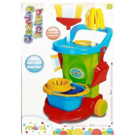 Carrinho De Limpeza E Acessórios - Cleaning Trolley - Colorido