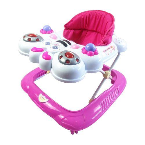 Andador Bebê Infantil Musical Bichos Baby Style Abelha Rosa