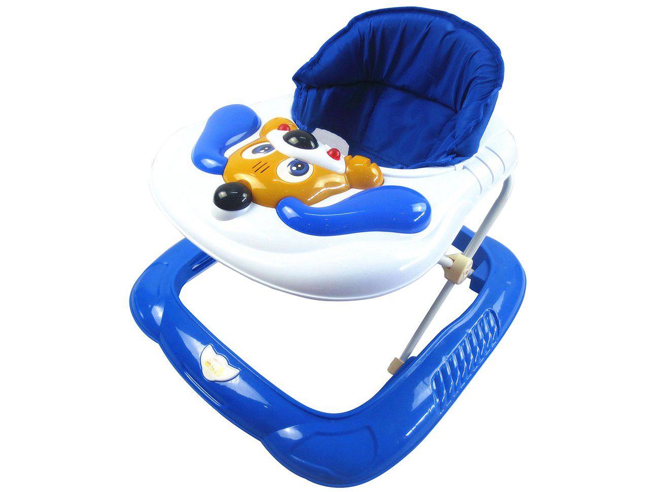 Andador Bebê Infantil Musical Bichos Baby Style Cachorro Azul