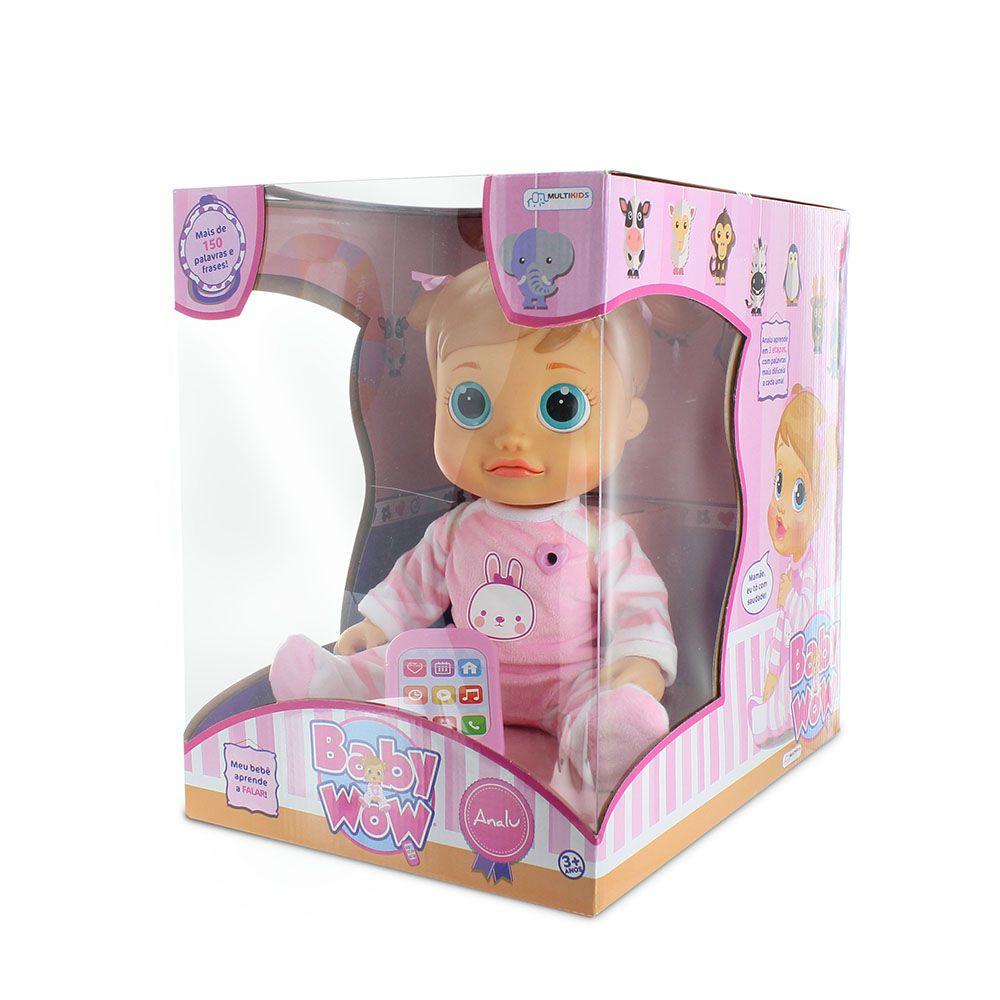 Baby Wow Boneca Que Fala Analu - Multikids