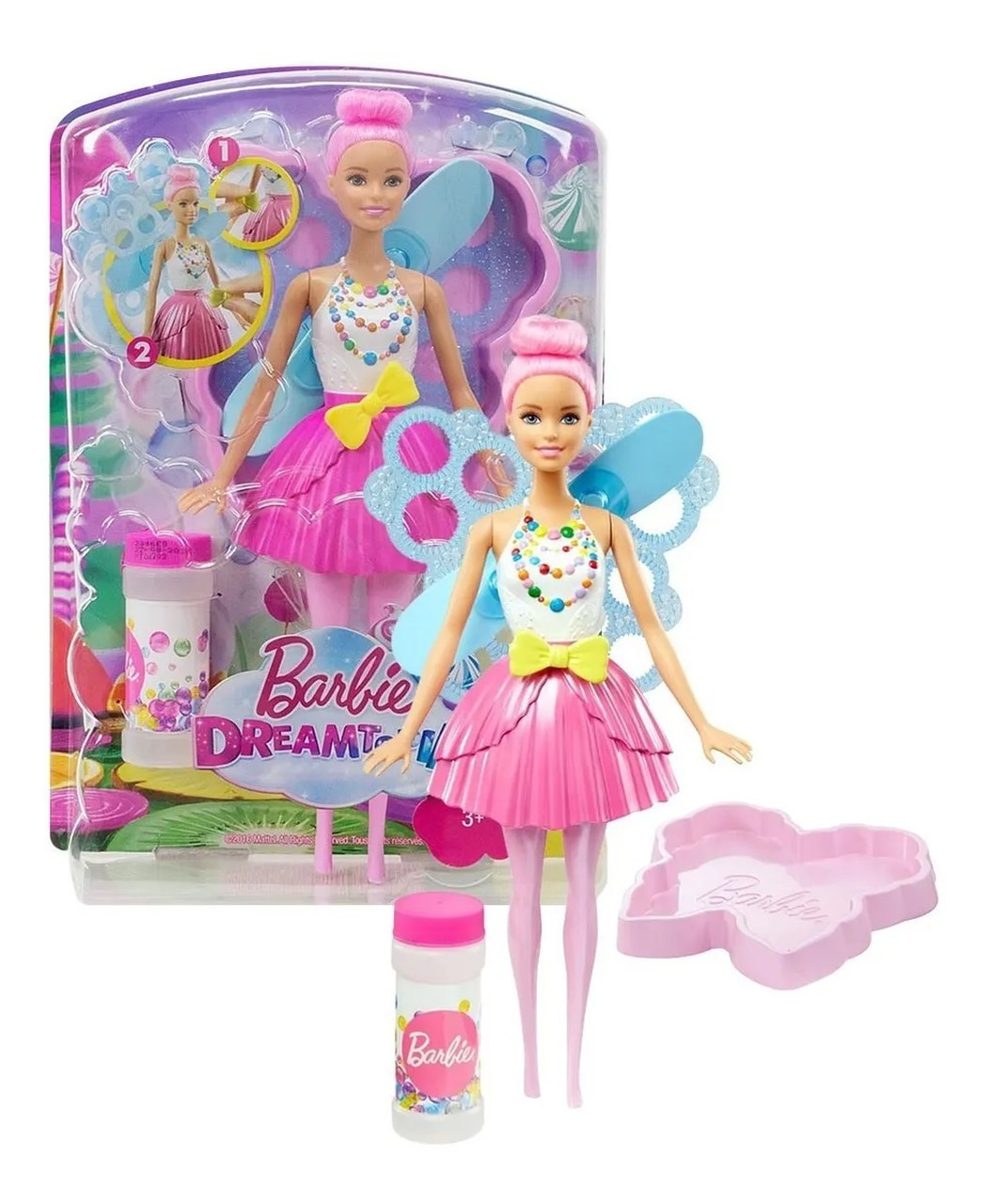 Barbie Boneca Fada Bolhas Mágicas Dreamtopia - Mattel Dvm95