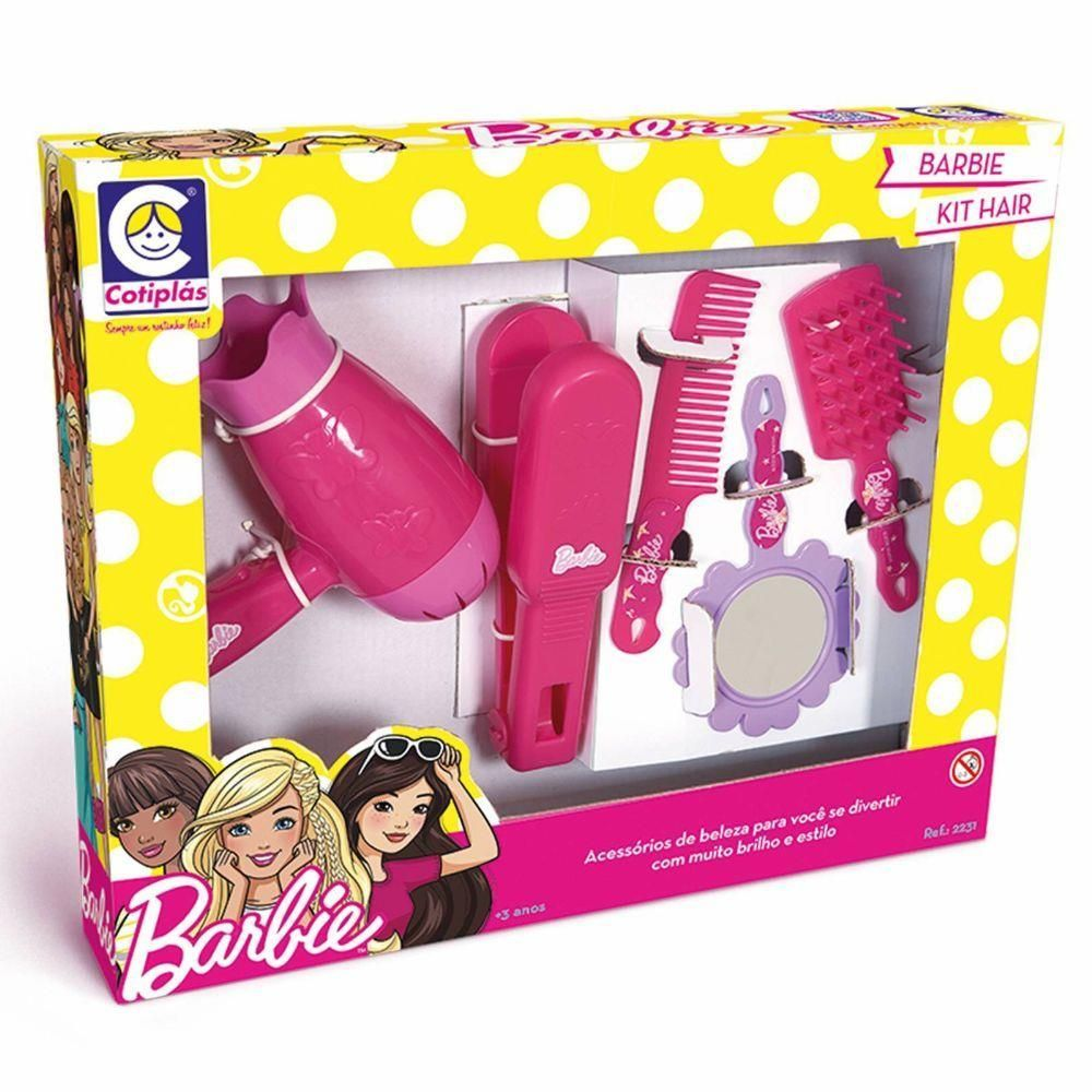 Barbie Kit Hair Acessórios De Beleza Da Cotiplás 2231