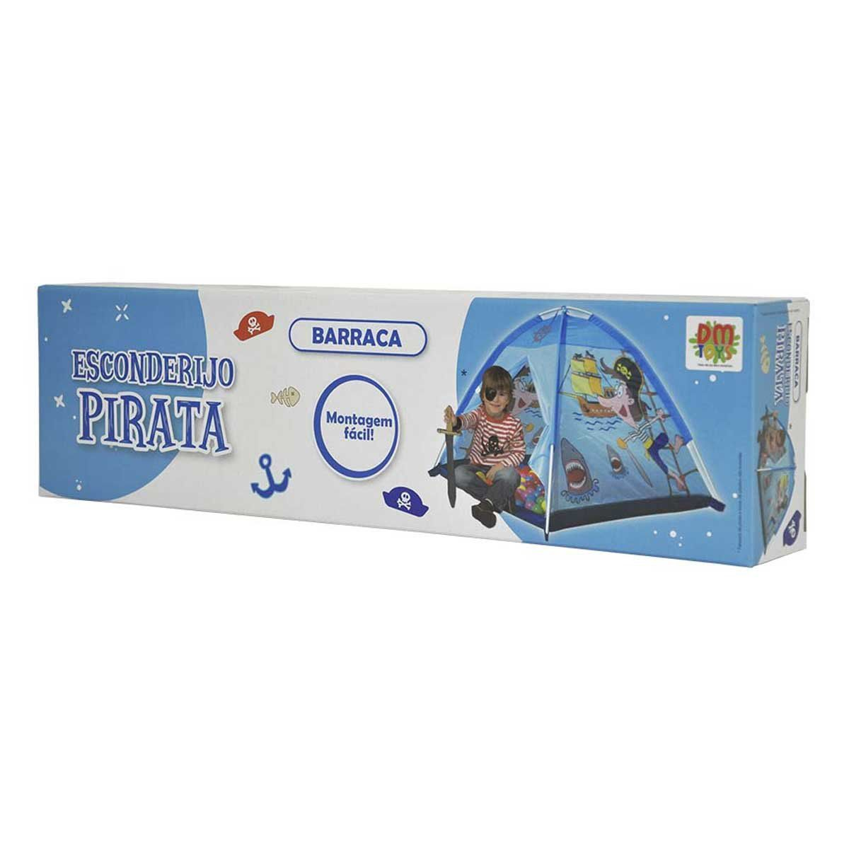 Barraca Infantil Esconderijo Pirata 94cm - Dm Toys