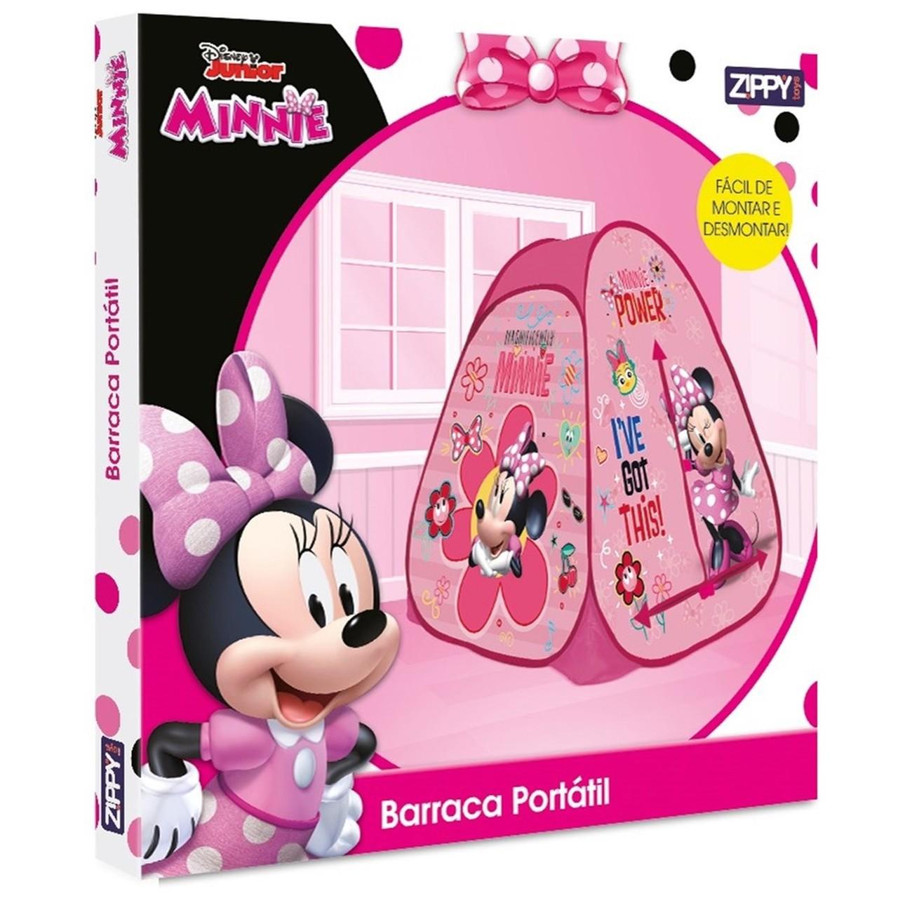 Barraca Infantil Minnie Tenda Portátil Pop-up - Zippy 6930