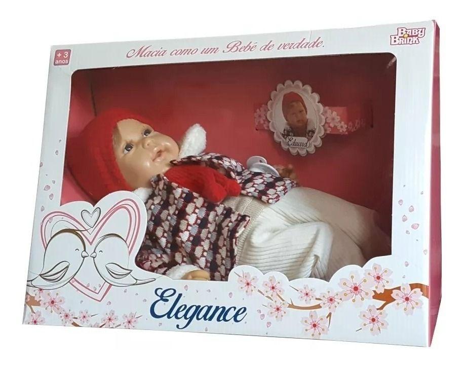 Bebe Reborn Boneca E Vinil Eduard Elegance - Baby Brink