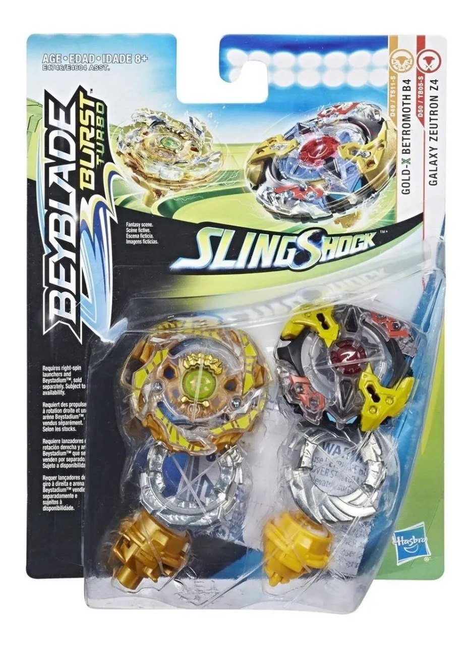 Beyblade Burst Gold-x B. B4 E Galaxy Z. Z4 Slingshock Hasbro