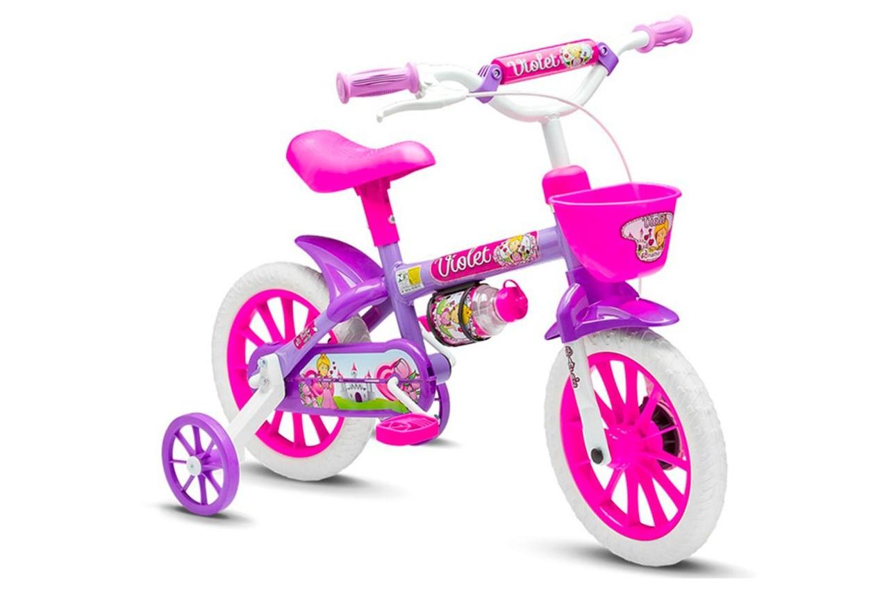 Bicicleta Aro 12 Infantil Menina Violet 3 - Nathor