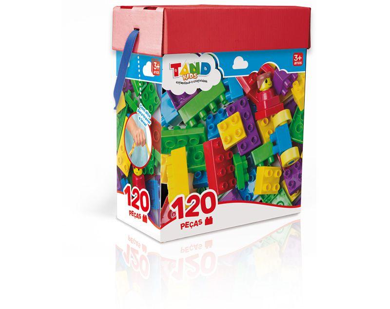 Blocos De Montar 120 peças Baú Tand Kids Original - Toyster