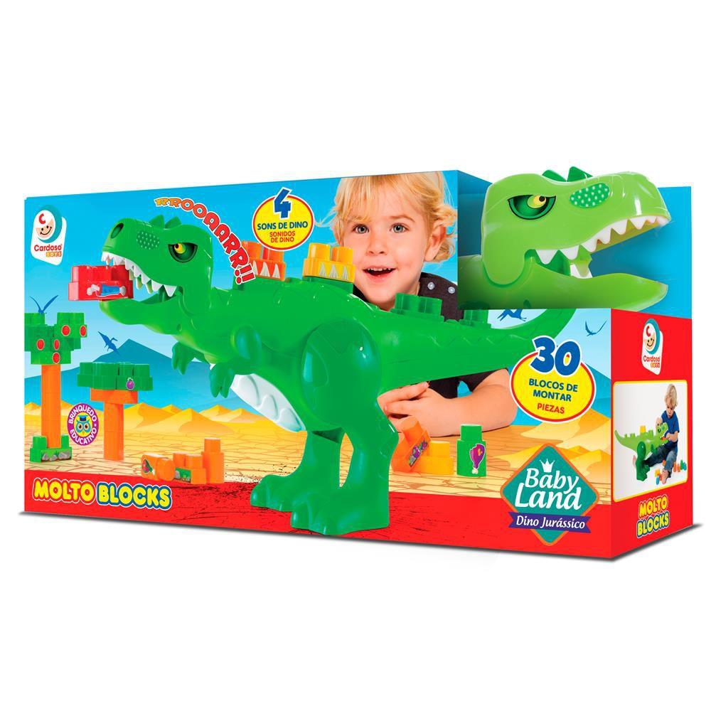 Blocos De Montar Dino T-rex 30 Blocos Baby Land - Cardoso