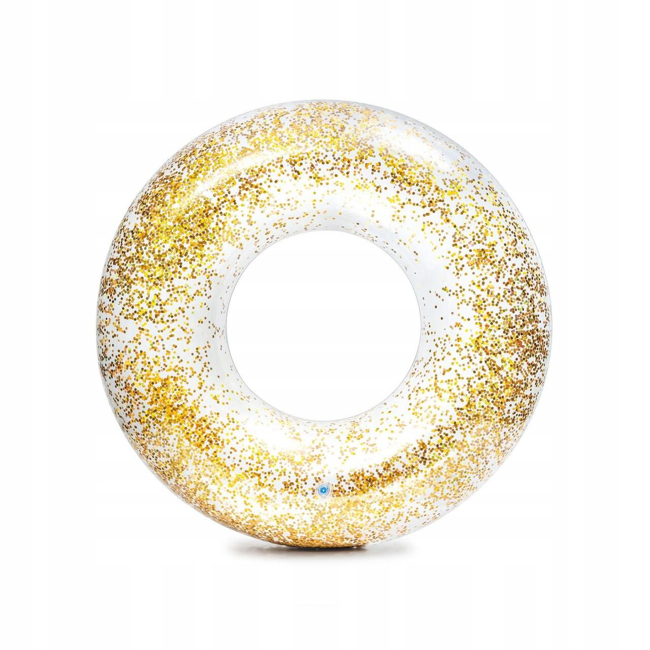 Boia Intex Transparente Inflável com Glitter Dourado - 56274