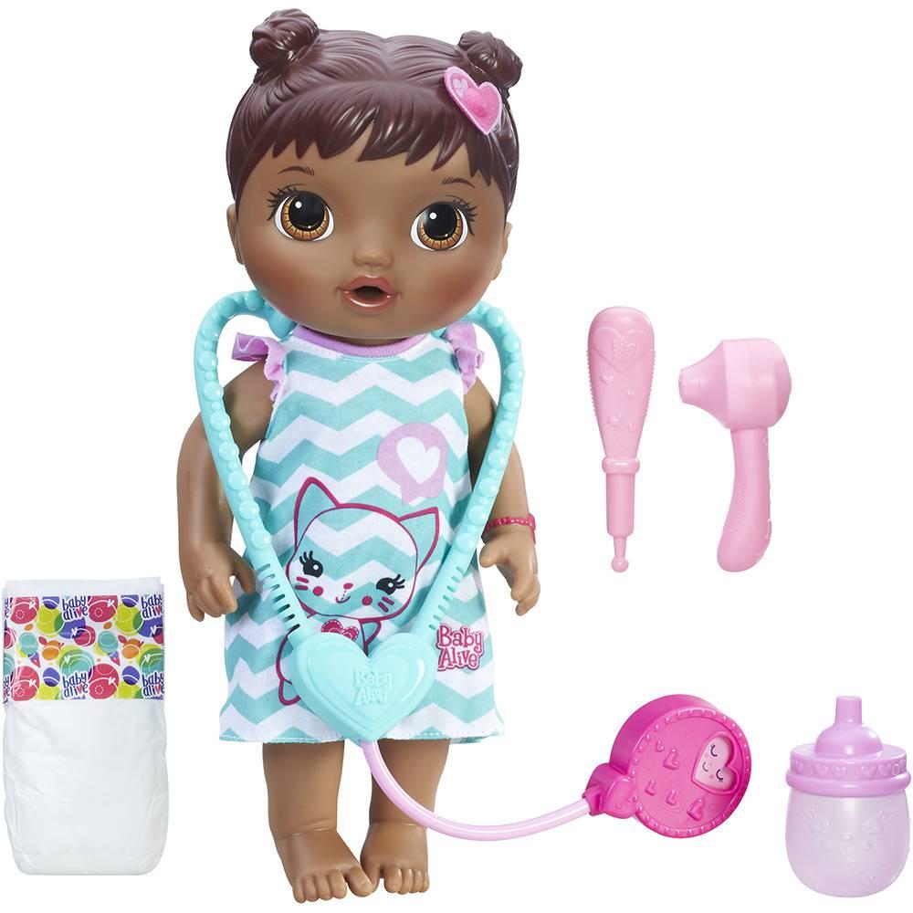 Boneca Baby Alive Cuida de Mim Negra C2693 - Hasbro