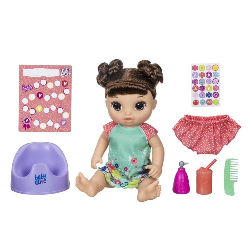 Boneca Baby Alive Primeiro Penico Morena - Hasbro E0610