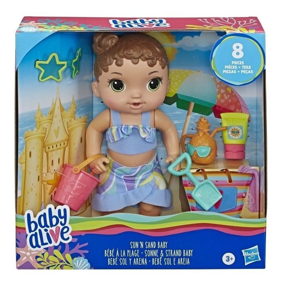 Boneca Baby Alive Sol e Praia Morena - Hasbro