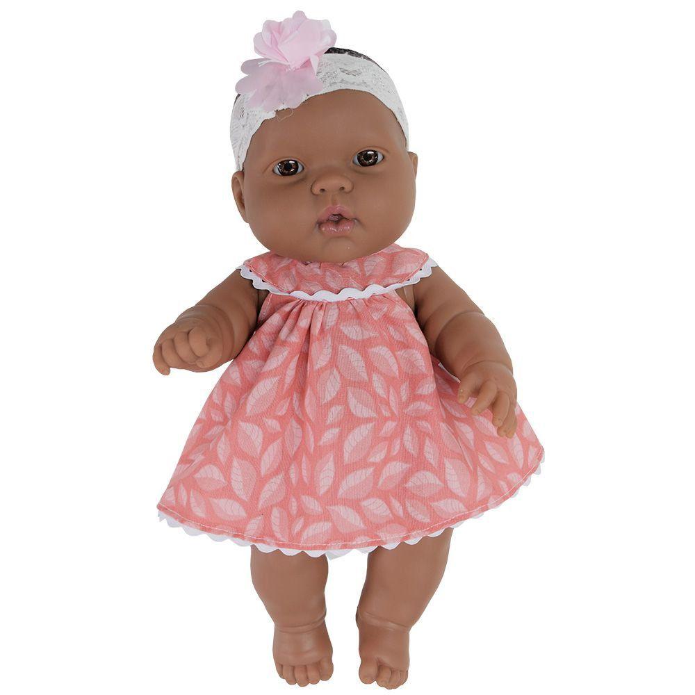 Boneca Baby Jr. Bebezinho Negra 34 Cm - Cotiplás