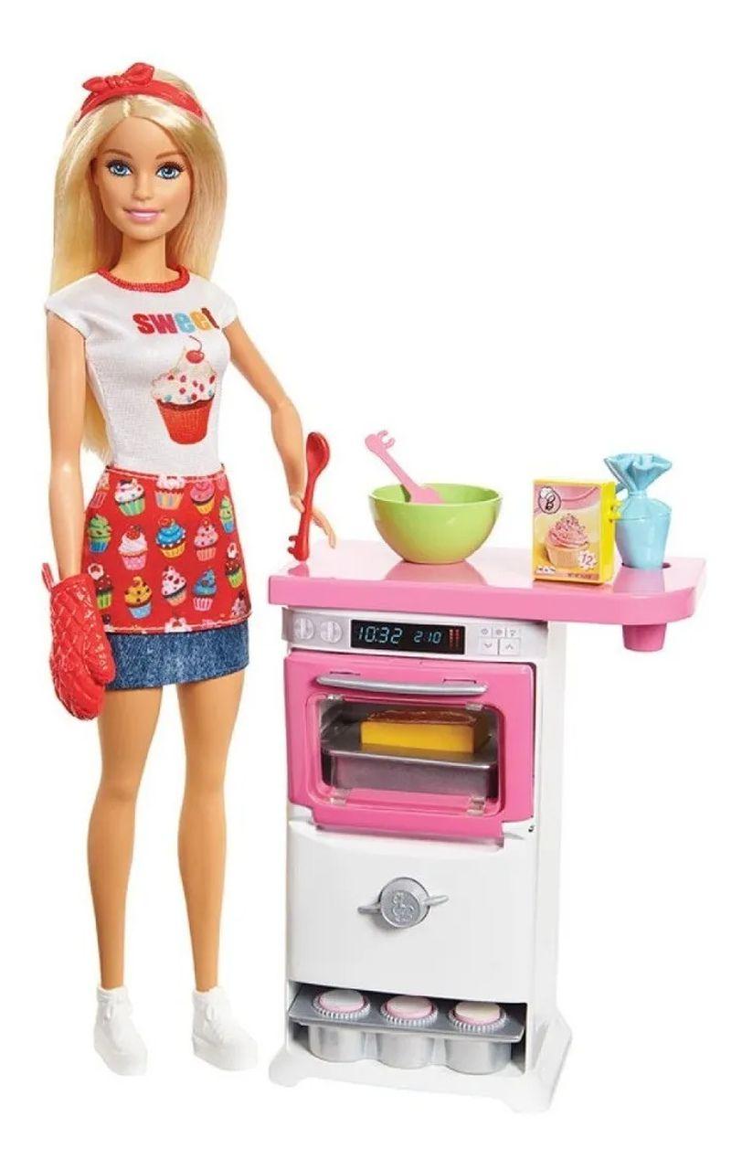 Boneca Barbie Chef Cozinhando e Criando 30cm - Mattel Fhp57