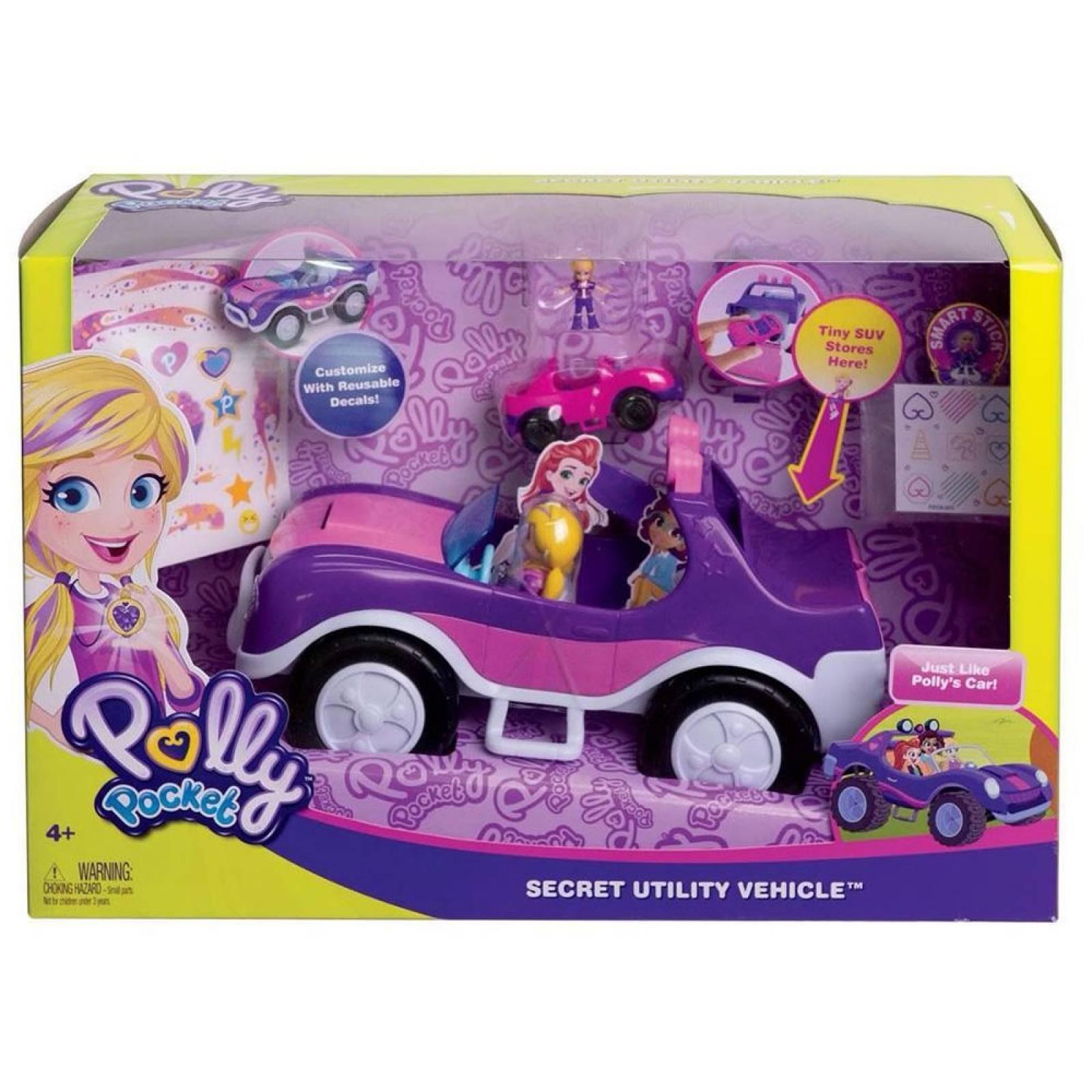 Boneca Polly Pocket Veículo Secreto Da Polly - Mattel Fwy26