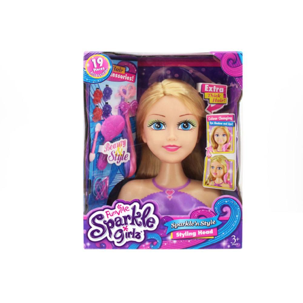 Boneca Sparkle Girlz Maquiadora Loira - Dtc