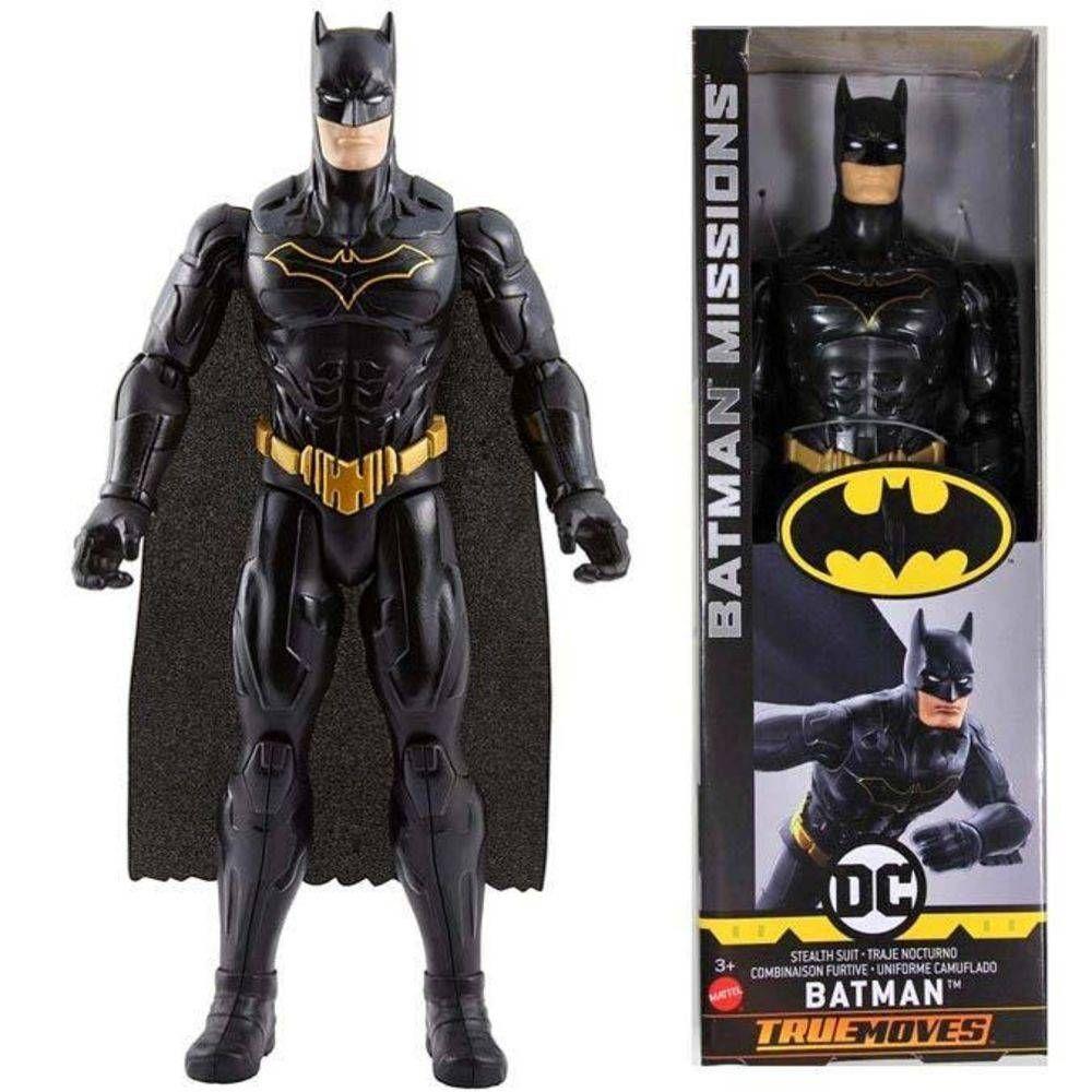 Boneco Batman Missions True Moves Mattel 30 Cm