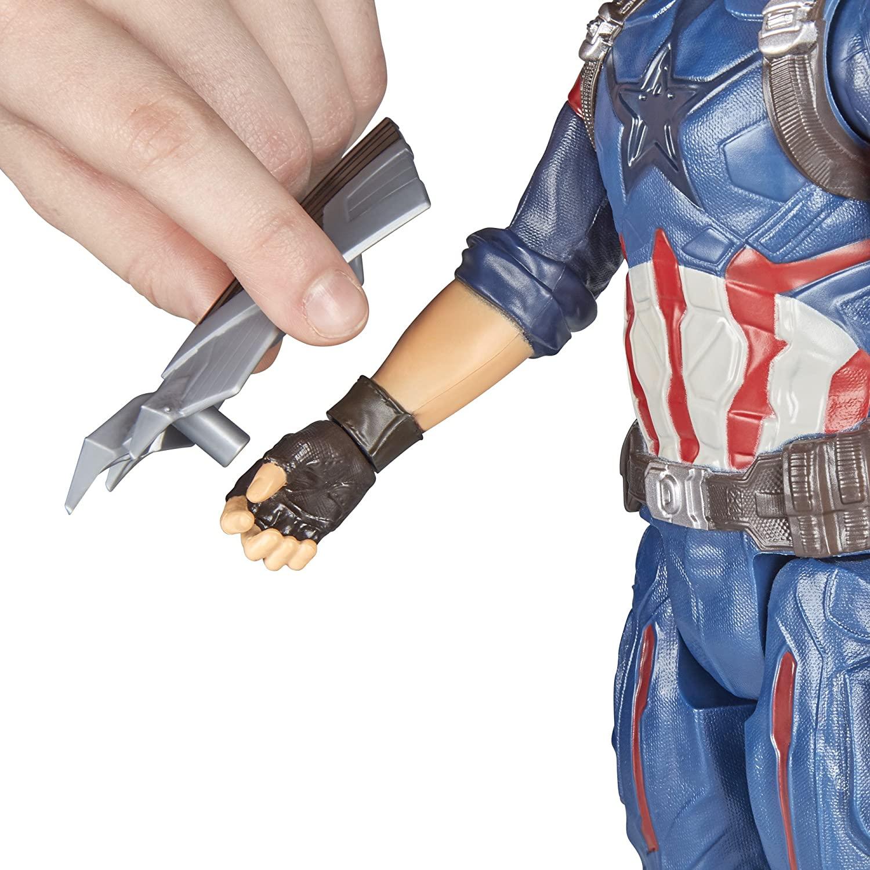 Boneco Capitão América Titan Hero Series Eletrônico Hasbro