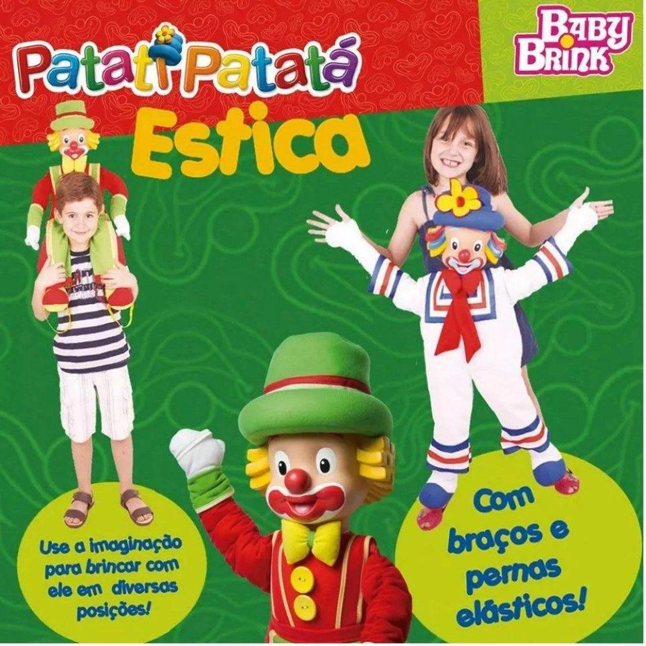 Boneco De Pano Patati Patatá 60cm Patatá Estica - Baby Brink