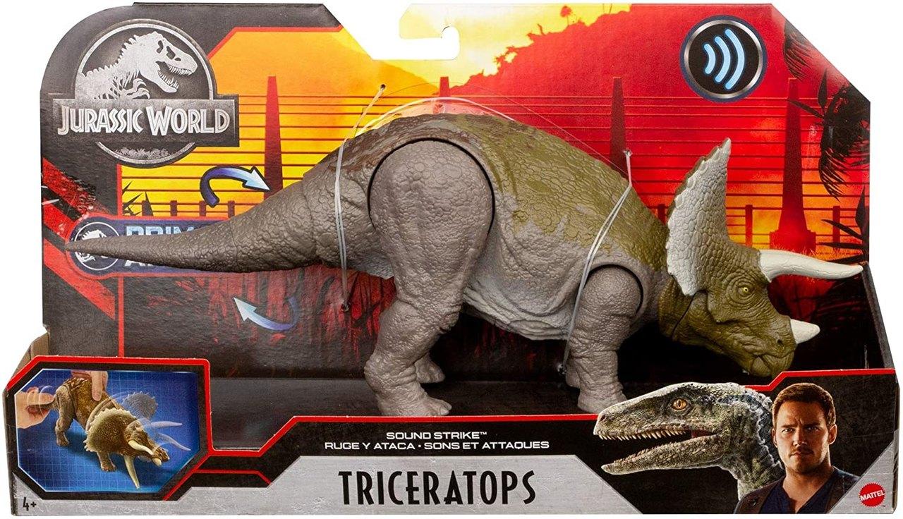 Boneco Dinossauro Triceratops C/ Som Jurassic World Mattel