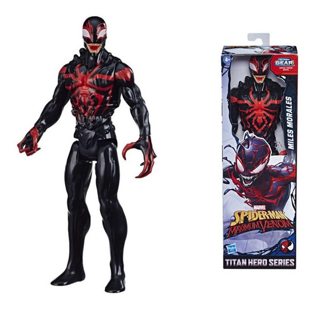 Boneco Homem Aranha Venom Miles Morales Blast Gear - Hasbro