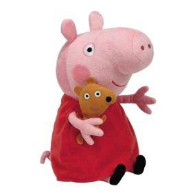 Boneco Pelúcia Peppa Pig 45cm - Ty Beanie Babies Dtc