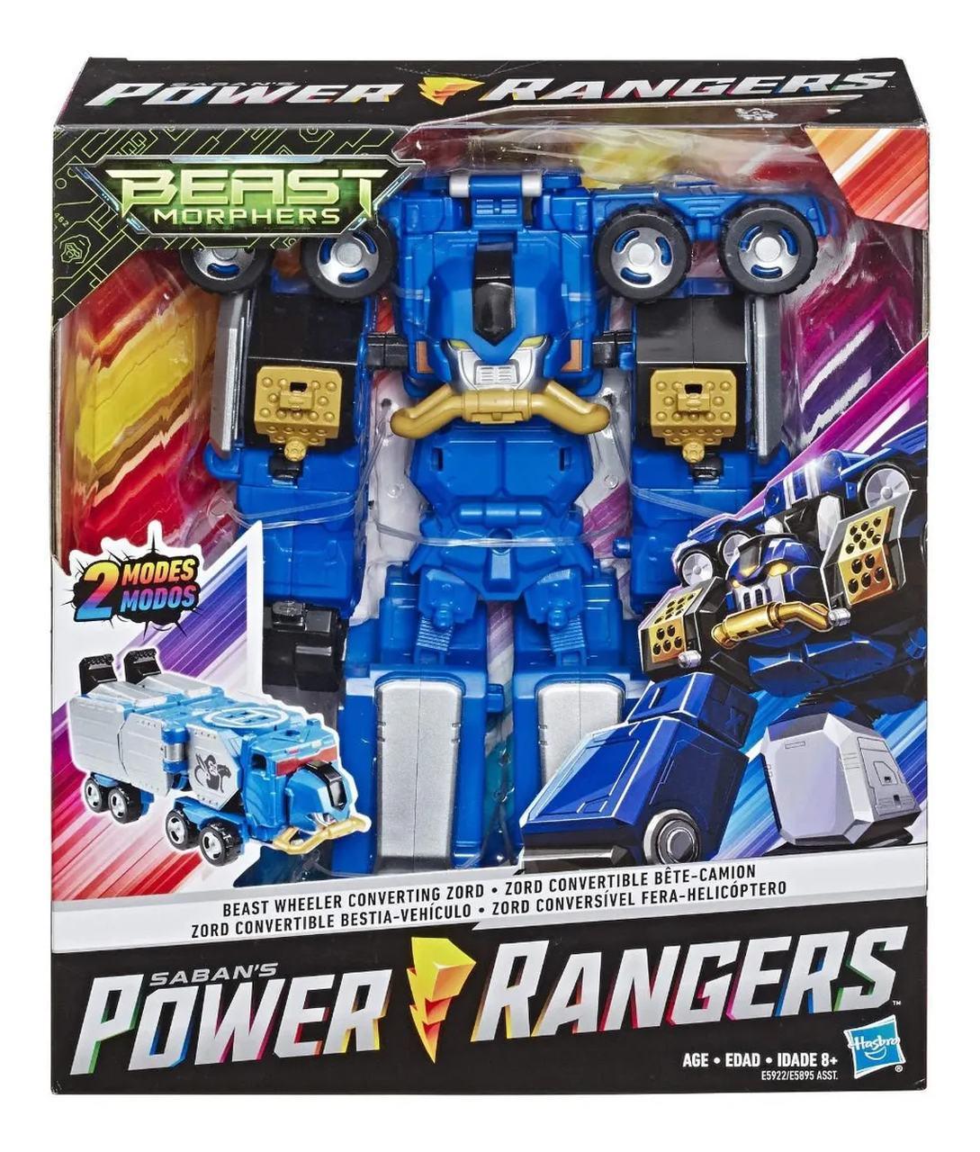 Boneco Power Rangers Zord Conversível Fera-Caminhão 2 Modos
