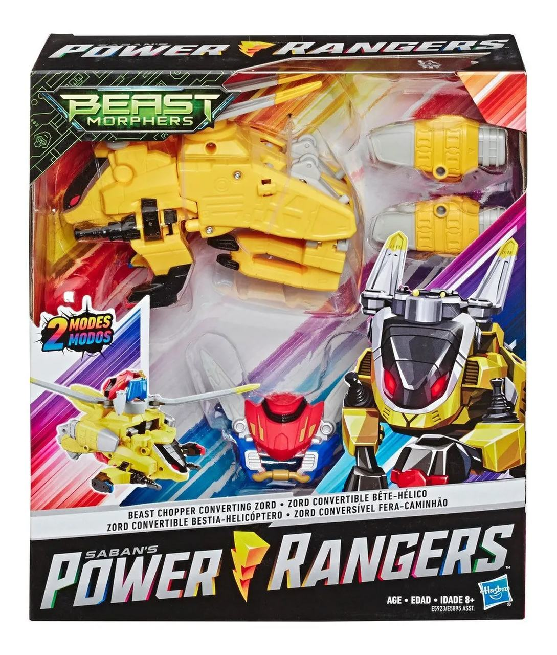 Boneco Power Rangers Zord Conversível Fera-Helicóptero