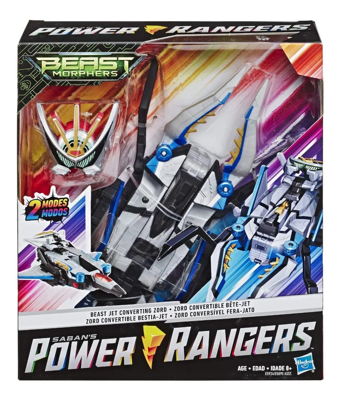 Boneco Power Rangers Zord Conversível Fera-Jato 2 Modos