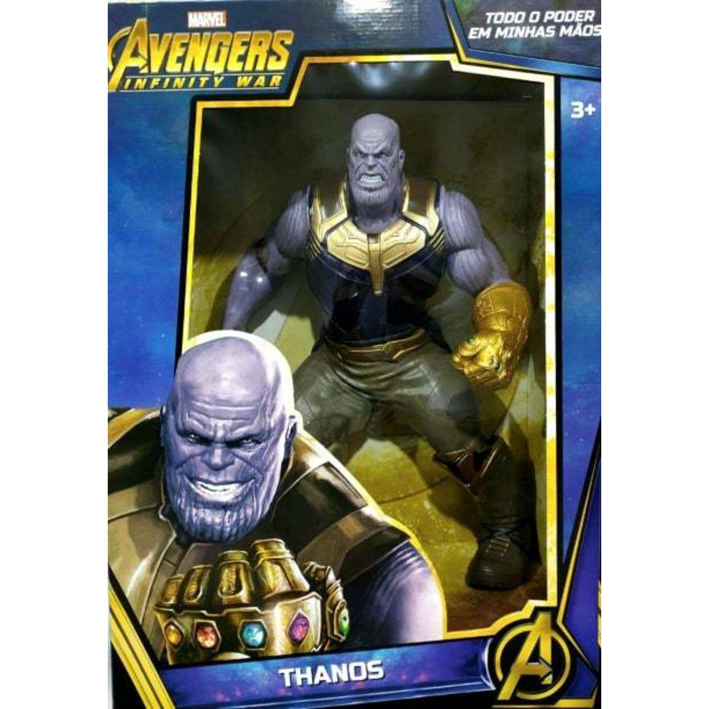Boneco Thanos Guerra Infinita Marvel Mimo 50 cm Premium