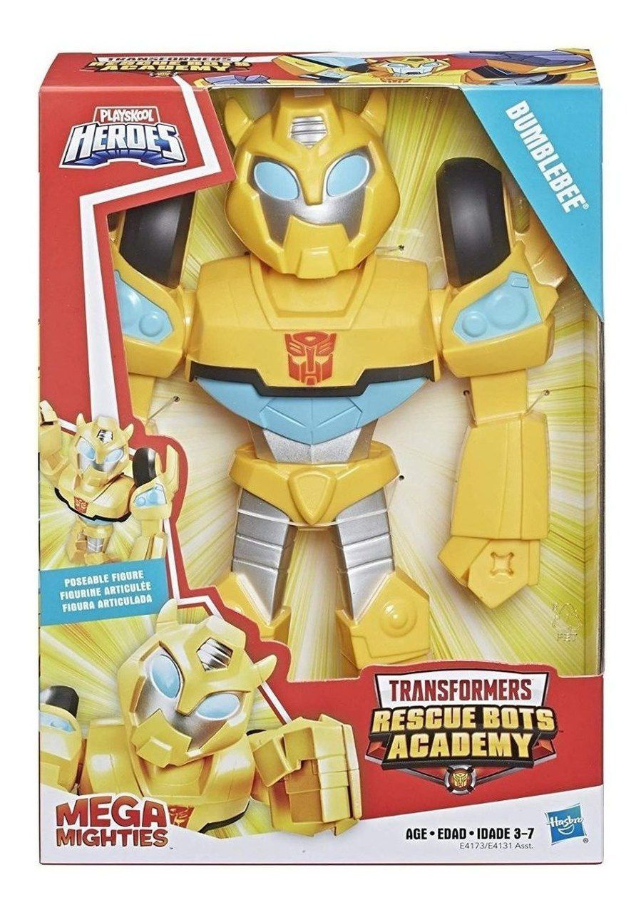 Boneco Transformers Rescue Bots Bumblebee Mighties Hasbro